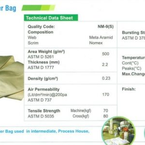 CF PGB Nomex Spray Dryer Bag