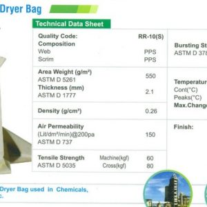 CF PGB PPS Rayton Spray Dryer Bag