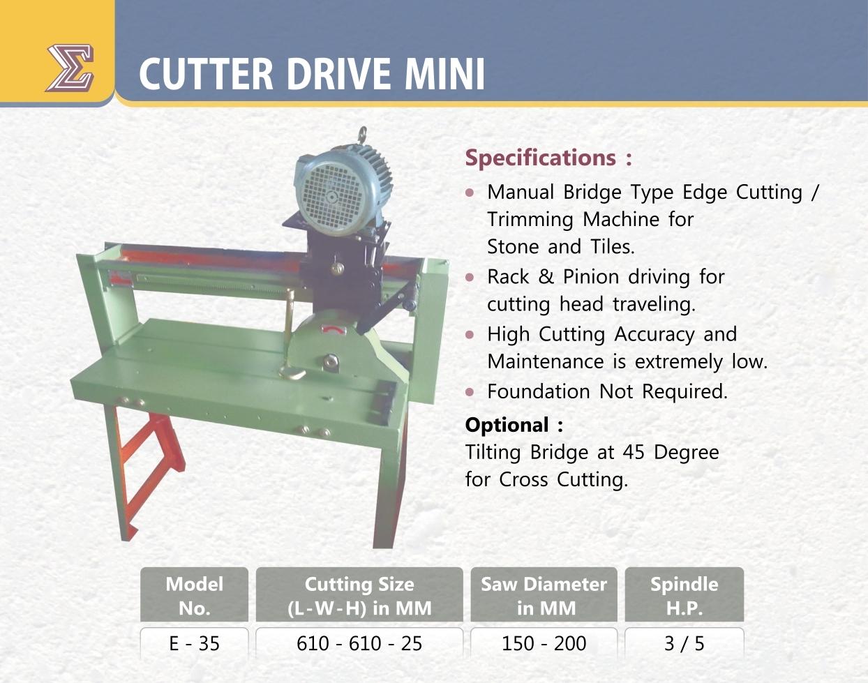 CF SMT Cutter Drive Mini E-35