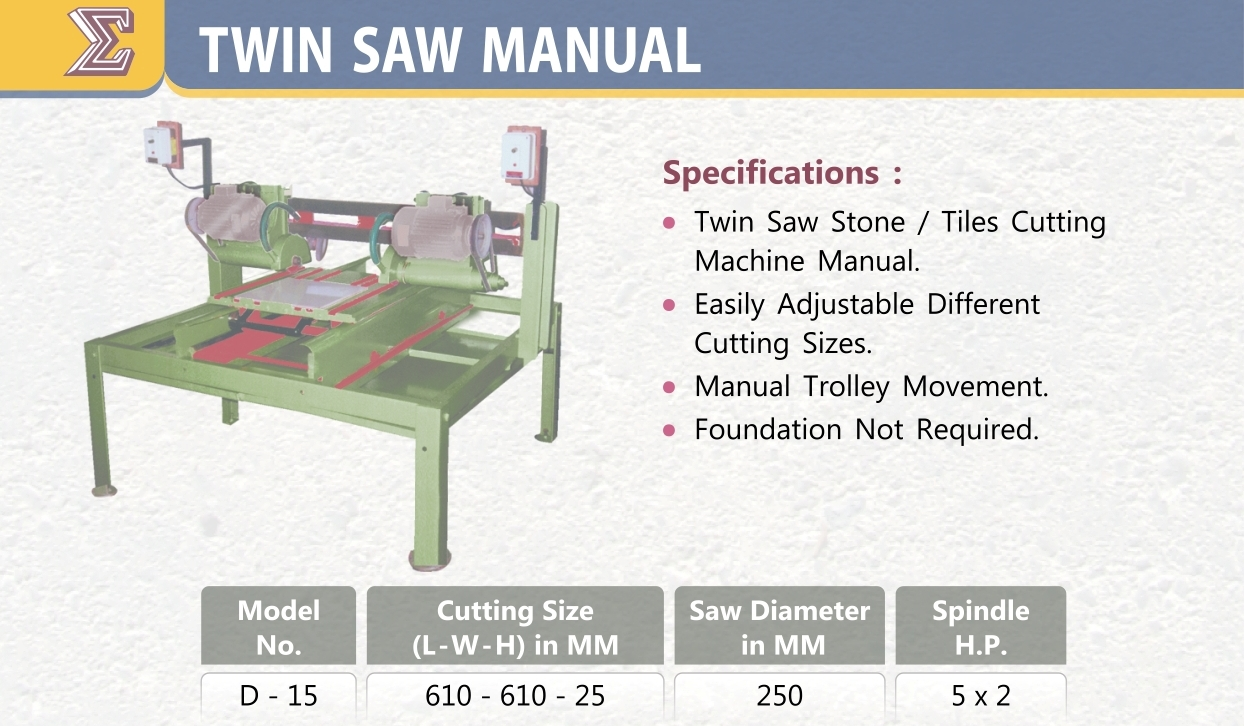CF SMT Twin Saw Manual D-15