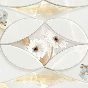 CF RANGE GLSY ONYX FLOWERANO DECOR B 12 X 24
