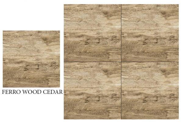 CF KEDA RUS FERRO WOOD CEDAR 600 X 600