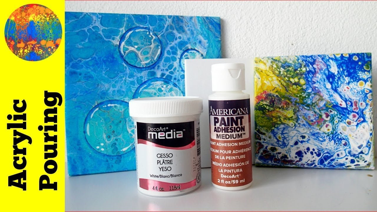 Acrylic Pouring on Ceramic Tiles: Prepare and Create [Gesso vs Adhesion Medium]