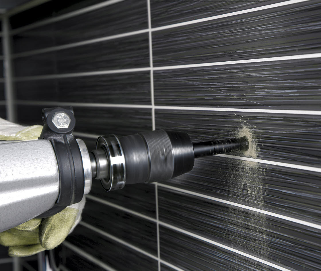 How to drill a hole into ceramic tile?