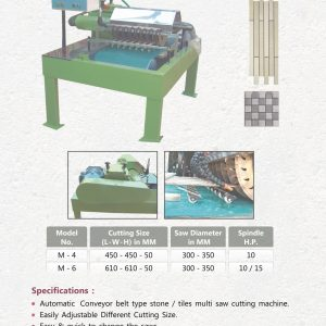 CF SMT Multi Saw Stone/Tiles Strips & Mosaic Cutting Machine M-6