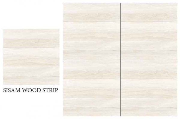 CF KEDA MAT SISAM WOOD STRIP 600 X 600